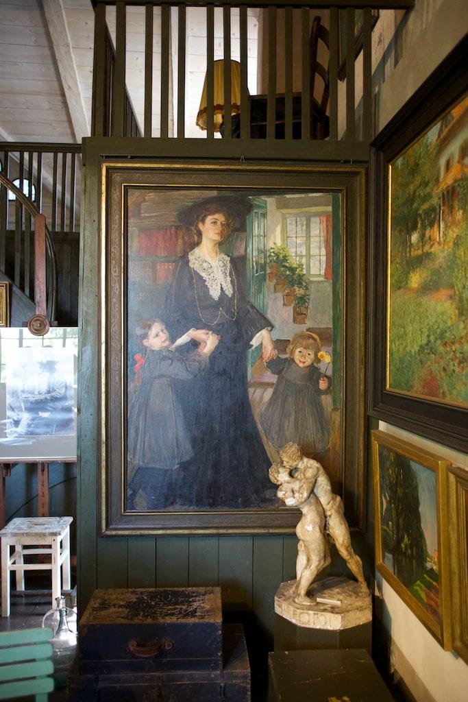 Übersee - Atelier Exter - seine Frau mit den beiden Kindern