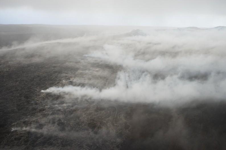 Big Island - Zentrum -dampfende Lava
