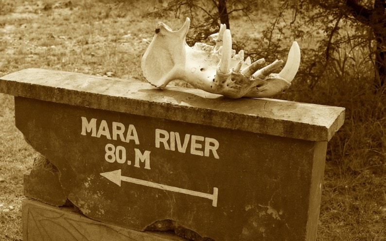 Mara River sign