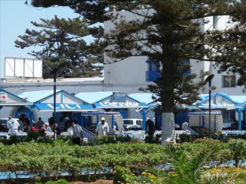 Fischrestaurants am Hafen