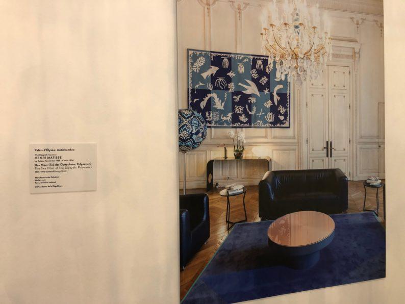 Henri Matisse im Vorzimmer des Elysee-Palastes.