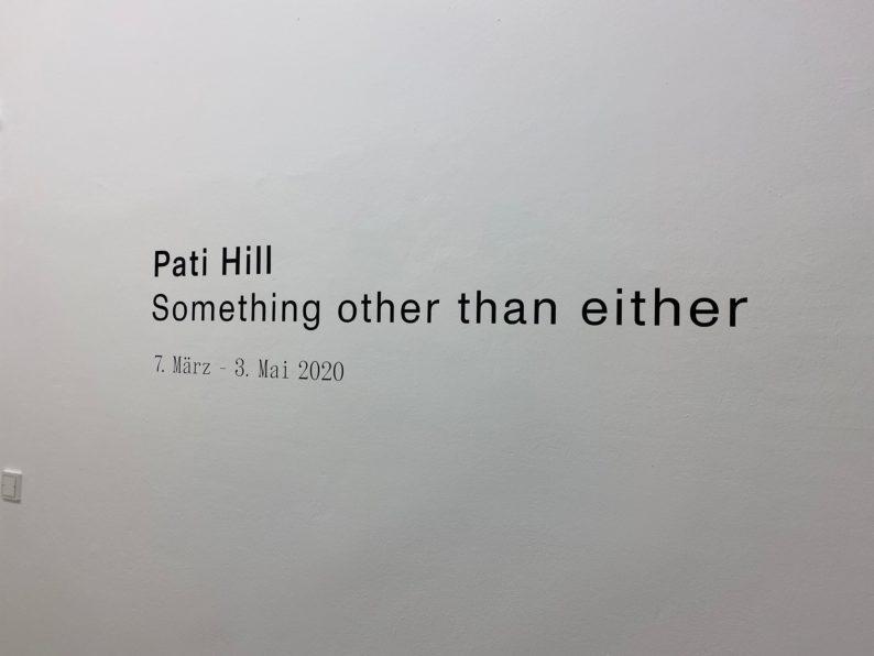 Kunstverein München -Pati Hill