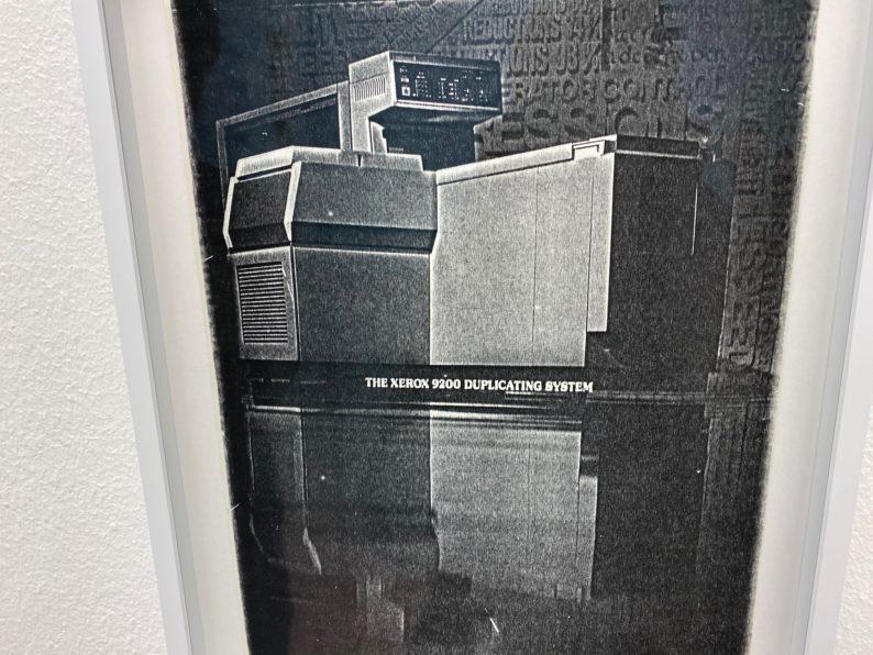 Kunstverein München -Pati Hill - eine Xerox Kopiermaschine