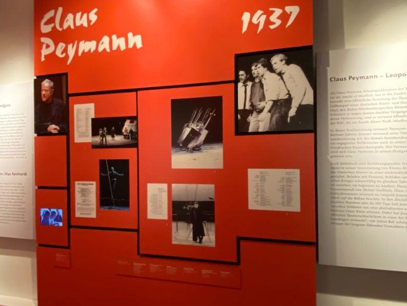 Schautafel zu Claus Peymann