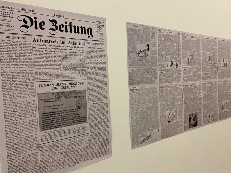 Szenen des Exils -  Die Zeitung, Londoner deutsches Wochenblatt 1941- 44