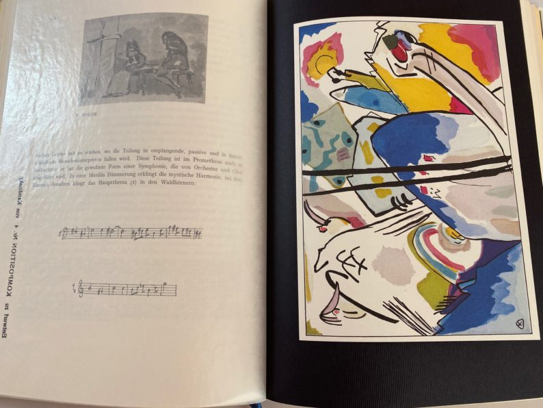 Entwurf zu Komposition Nr. 4 von Kandinsky.