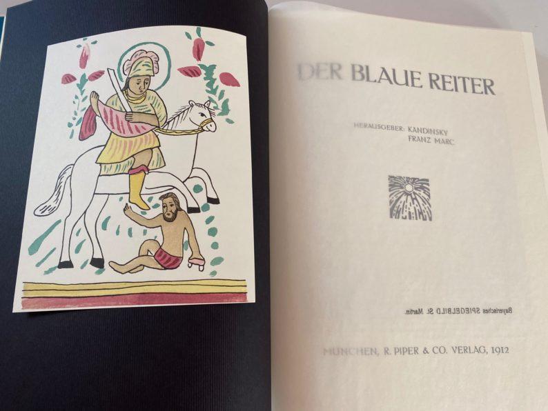 Nachdruck Der blaue Reiter links - bayrisches Spiegelbild St. Martin