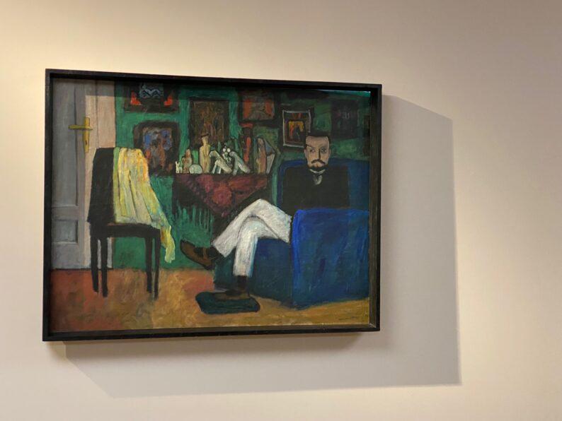 Gabriele Münter - Mann auf dem Sofa (Paul Klee)