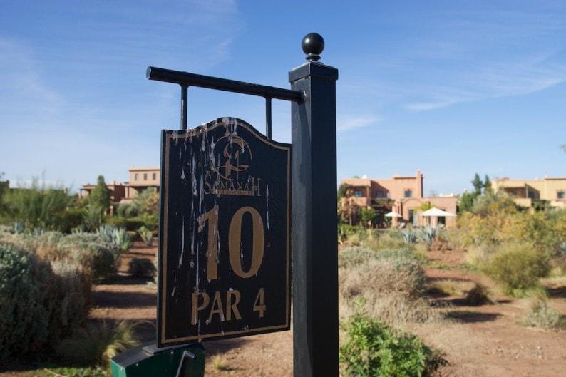Marrakech - Golfclub Samanah - Tee 10