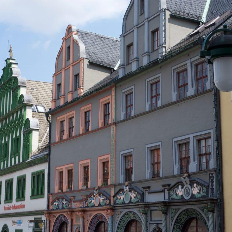 Weimar - Fassaden am Markt