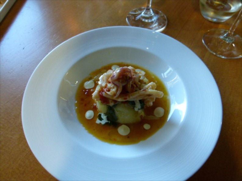 Wickaninnish Inn Driftwood Cafe - Calamari auf Kartoffeln
